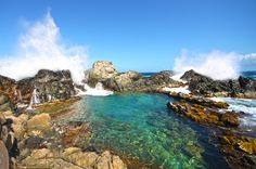 One of the coolest & prettiest places I've been...  Natural Pool, Arikok National Park, Aruba ......going to have to check this out