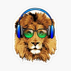 Lion Design, Decorate Notebook, Glossier Stickers, Round Sunglasses, Chill, My Arts, Art Prints, Printed, Awesome