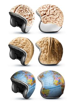 I love those bike helmets from Good. especially the NUT-it should have a slight crack though