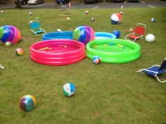 Picnic Idea: Adding to the beach party feel- put out some kiddie pools and tons of beach balls!