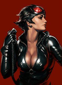 Gotham City Sirens - Catwoman by Yama Orce #Comics #Comic_Book