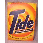 Vitage Laundry Detergent   c1949 Vintage TIDE Laundry Soap Detergent Box Unopen (10/31/2007)...