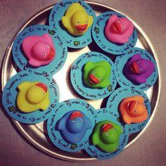 Cupcake vijver met eendjes