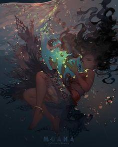 """ The ocean chose me for a reason. "" Moana Waialiki and the stolen heart of Te Fiti #disney #moana #2016 #movie"
