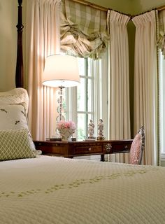 bedroom decor with pale green accents