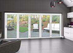 white aluminium bifold doors - Google Search