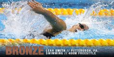 #BRONZE for USA Swimming's Leah Smith!!   Congratulations! Go #TeamUSA!