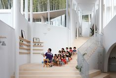photo(C)Kai Nakamura / INTERMEDIA designed a nursery school in Nagasaki , Japan.