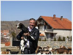 CARE helped this farmer from Kosovo grow his goat cheese factory in the village of Bresalce.