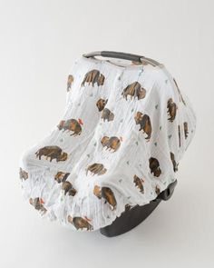 Bison Cotton Muslin Car Seat Canopy