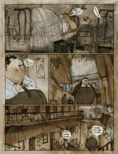 Art from Jorge González - makes me think a little bit of Larcenet's Blast.