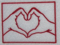 Heart Hands Embroidery Design | Apex Embroidery Designs, Monogram Fonts & Alphabets