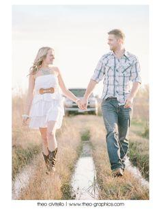 Sunny Texas Engagement Session. Engaged! Adam & Whitney's Country Style Set | Houston Engagement Photography | Theo-Graphics - Theo Civitello - Houston, Texas Wedding, Automotive & Life Photography Blog