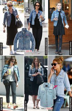 """Não é fã dos patches, mas gosta da ideia de personalizar itens do guarda-roupa? Parece que várias celebs também, e por isso caíram de amores por essa jaqueta jeans da Madewell! A marca na verdade tem um """"Denim Bar"""" que oferece a opção de bordar iniciais e nomes em jaquetas e outras peças jeans por apenas …"""