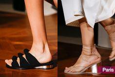 Spring 2015 Shoe Trends: Stella McCartney's knot slides and sliver wedges