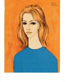 Portrait of Jayne Margaret Keane Lithograph Print by BellaMercato, $10.00