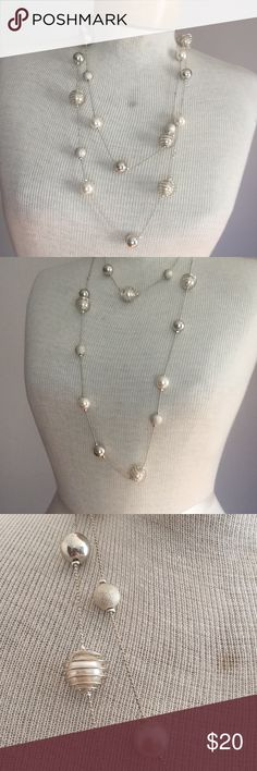 """Long beaded necklace. 54"""" long Long beaded necklace. 54"""" long   Can be worn long or doubled. Macy's Jewelry Necklaces"""