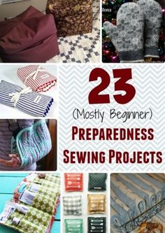 23 Preparedness Sewing Projects | You can complete various preparedness sewing projects at home to be ready for various emergencies.