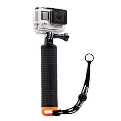 LOTOPOP Waterproof Floating Hand Grip Tripod for Gopro Hero 3 4 Session 3  Handle Mount Accessories and Water Sport Pole for GeekPro 30 and ASX Action Pro Cameras Action Camera Accessories ** Learn more by visiting the image link.