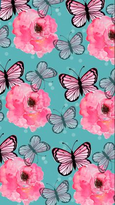 30 Cute Wallpapers For Your Phone - Phone Backgrounds , Iphone Backgrounds Iphone Background Wallpaper, Butterfly Wallpaper, Cellphone Wallpaper, Phone Backgrounds, Vintage Wallpaper, Pink Wallpaper, Pattern Wallpaper, Wallpaper Ideas, Butterfly Flowers