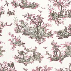 Schumacher - Continenti Grey Wallpaper, Fabric Wallpaper, Schumacher, 18th Century, Prints, Fabrics, Design, Plymouth, Art