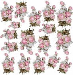 Decoupage Jars, Decoupage Printables, Paper Napkins For Decoupage, Decoupage Vintage, Images Vintage, 3d Paper Crafts, Flower Clipart, Rice Paper, Vintage Flowers