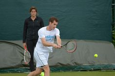 Andy Murray watched by coach Amelie Mauresmo