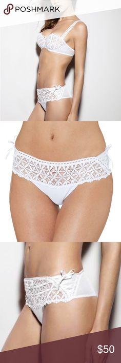 Aubade lingerie Bahia Couture Hot Tanga French lingerie Seductive cut in white NWOT Aubade Intimates & Sleepwear Panties