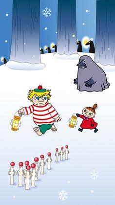 Little My Moomin, Moomin Valley, Tove Jansson, Winter Christmas, Troll, Snoopy, Kawaii, Fantasy, Wallpaper
