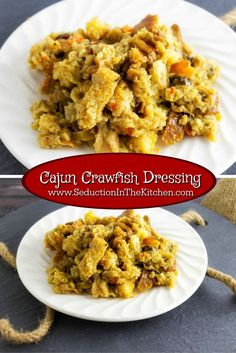 Cajun Crawfish Dressing is a cornbread dressing with creole flavors and of course crawfish! This Southern specialty dressing was challenged for me to make. A recipe from Seduction in the Kitchen.