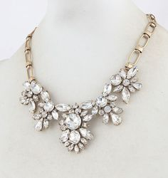 Hot shine Czech crystal fashion necklace statement by TinaJustyle, $24.99