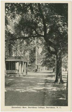 Dormitory Row, Davidson College, Davidson, N.C. :: North Carolina Postcards