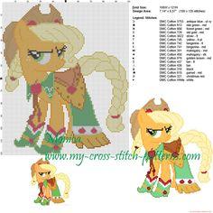 Applejack (My Little Pony) patrón punto de cruz