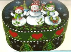 Painting Folk Art Pieces with patterns that anyone can paint. These folk art patterns are by Rosemary West. Christmas Wood, Christmas Crafts, Christmas Decorations, Christmas Ornaments, Christmas Patterns, Christmas Pictures, Christmas Snowman, Xmas, Arte Country