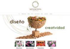 Diseño de página web de diseñadores de ramos florales en barcelona. http://www.dipixel.es/
