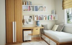 Interior Design Ideas for Small Houses : bedroom interior design ideas for small bedroom. Bedroom interior design ideas for small bedroom. Small Bedroom Hacks, Small Bedroom Designs, Small Room Decor, Budget Bedroom, Bedroom Ideas For Small Rooms Diy, Decor Room, Tiny Spare Room Ideas, Small Bedroom Inspiration, Spare Bedroom Study Ideas