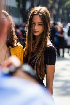 The young Rapunzel, Milan. Gorgeous long hair.