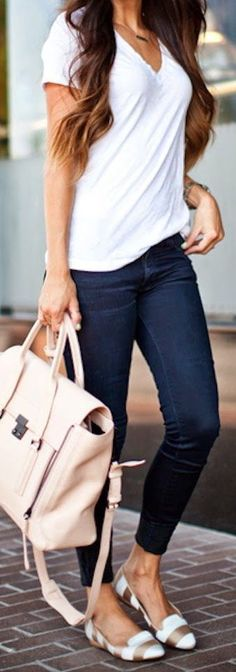 Very much a jeans and t-shirt girl. That bag though! ♡