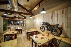 #steakhouse #design #retaildesign #architecture #porto #portugal #caferacer