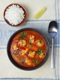 Odkąd kiedyś w bałkańskiej knajpie miałam okazję spróbować pikantnej zupy rybnej, na myśl o której mam ślinotok, tak teraz w końcu doczekała... Polish Recipes, Antipasto, Fish And Seafood, Bon Appetit, Thai Red Curry, Soup Recipes, Good Food, Appetizers, Food And Drink