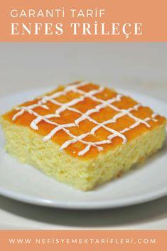 Trileçe (Garanti Tarif) #trileçe #şerbetlitatlılar #nefisyemektarifleri #yemektarifleri #tarifsunum #lezzetlitarifler #lezzet #sunum #sunumönemlidir #tarif #yemek #food #yummy Pie Dessert, Cookie Desserts, Tri Lece, Turkish Kitchen, Cake Cookies, Vanilla Cake, Muffins, Cheesecake, Food And Drink