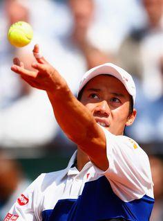 Kei Nishikori Photos - 2015 French Open - Day Four - Zimbio