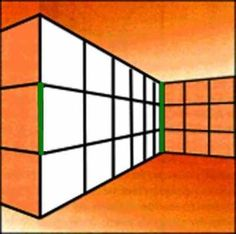 Ponzo Illusion    Both green lines have the same length. This Ponzo illusion uses the fact that human brain interpretes the image with perspective, however, it's just a simple 2D image.