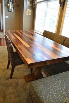 Custom Made Birch And Steel Trestle Dining Table | Furniture | Pinterest |  Trestle Dining Tables, Birch And Steel Part 80