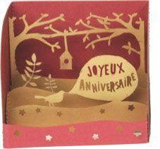 mini anniversaire oiseau Pop Up, Tunnel Book, Accordion Fold, Kirigami, Paper Cutting, Paper Art, Theater, Creations, Packaging