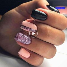 Top Easy Nail Designs For Short Nails These trendy Nails ideas would gain you amazing compliments. Check out our gallery for more ideas these are trendy thi Square Nail Designs, Short Nail Designs, Colorful Nail Designs, Simple Nail Designs, Acrylic Nail Designs, Acrylic Nails Natural, Square Acrylic Nails, Natural Nails, Summer Gel Nails
