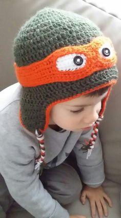 Ninja Turtles crochet hat / cappello uncinetto tartarughe ninja
