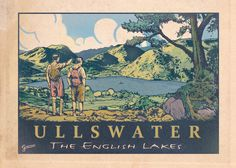 Retro Ullswater - Vintage Style Poster Original graphic poster art designed in The Northern Line studio in Ulverston, Cumbria. We ship worldwide. #thelakedistrict #posters #graphicart