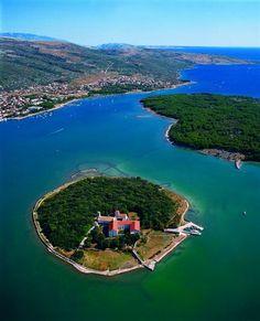 KOŠLJUN - is a tiny island in Puntarska Draga bay off the coast of Krk, Croatia