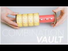 How to Make Combination Vault Using Cardboard and Trash - DIY Combination Lock - YouTube